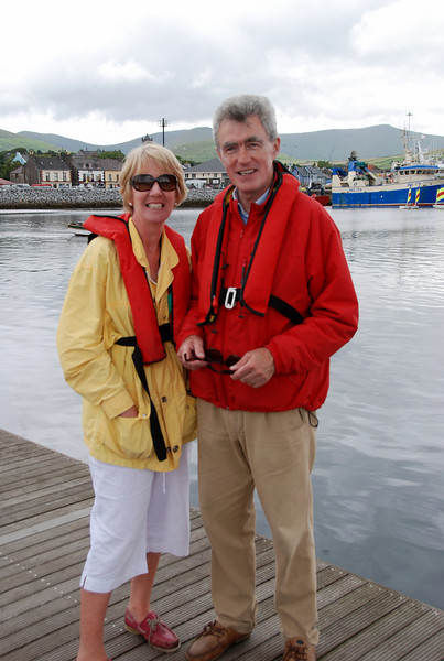 Besie's crew: Alice & Shane Ward.  Besie's home berth is in Carrick-on-Shannon and heding to sea always involves a couple of extra days negotiating the passage from C-o-S to Limerick.