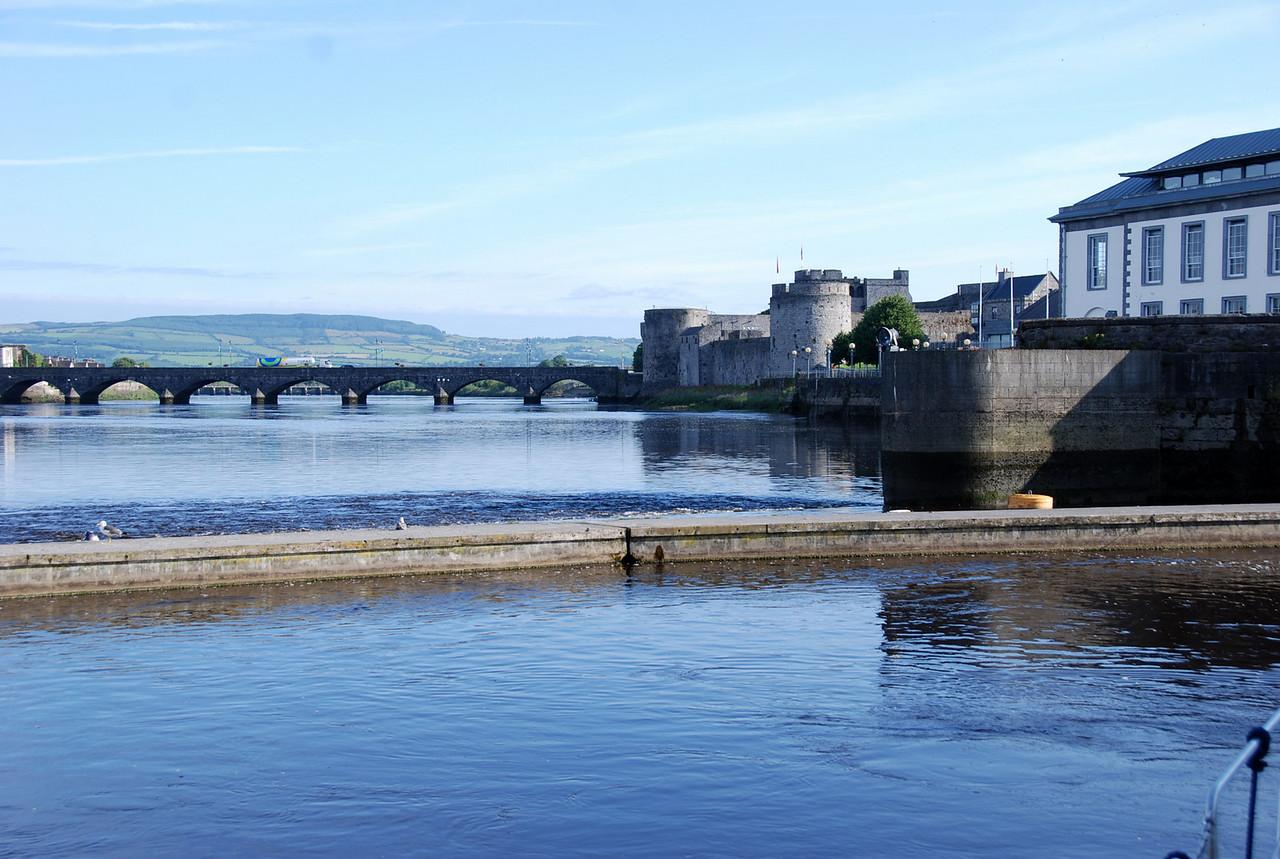 Thomond Bridge and King John's Castle.