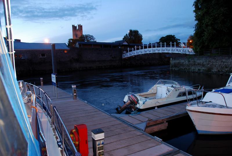 """""""Arthur"""" safely moored at Custom House Quay."""