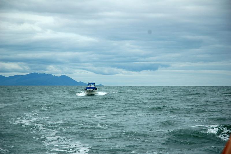 """""""Arthur"""" on the Shannon Estuary against a backdrop of Brandon Head<br /> <br /> Photo: Caoimhe Ryan"""