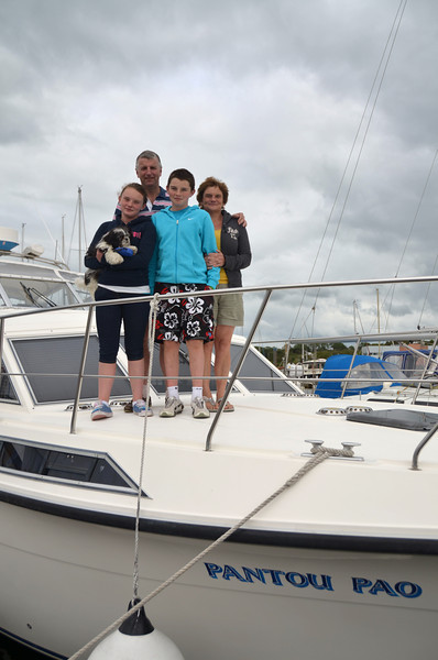 The crew of Pantou Pao...Caoimhe, Matt, Michael and Catherine Ryan