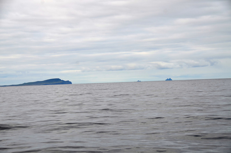 Valentia Island on the left and The Skelling Islands in the distance.