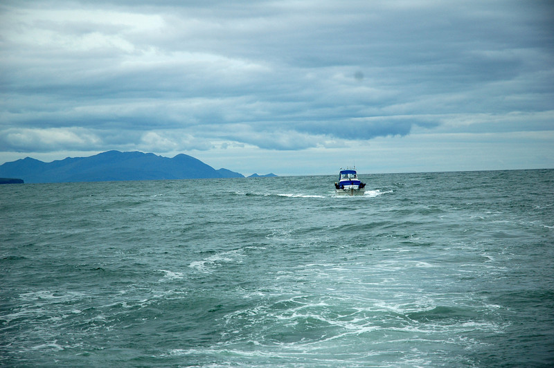 """""""Arthur"""" on the way up the Shannon Estuary. Kerry Head is the dark headland to left of picture.<br /> <br /> Photo: Caoimhe Ryan"""