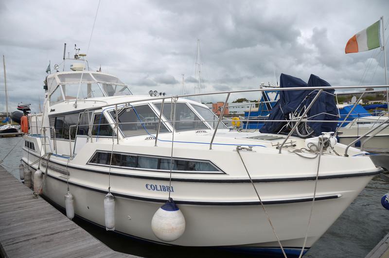 Colibri in Kilrush Marina after cruising from Dingle.