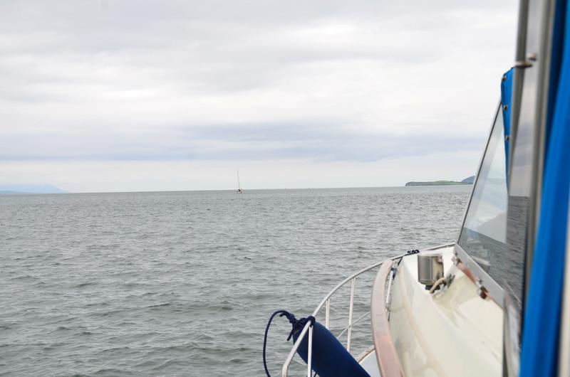 """Arthur"" heading down the estuary..."