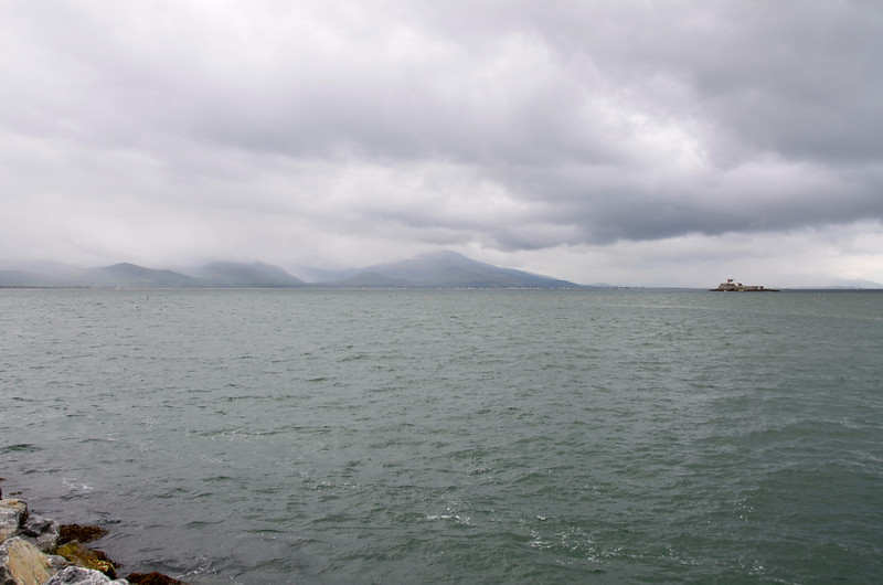 Tralee Bay as viewed from the harbour wall in Fenit.
