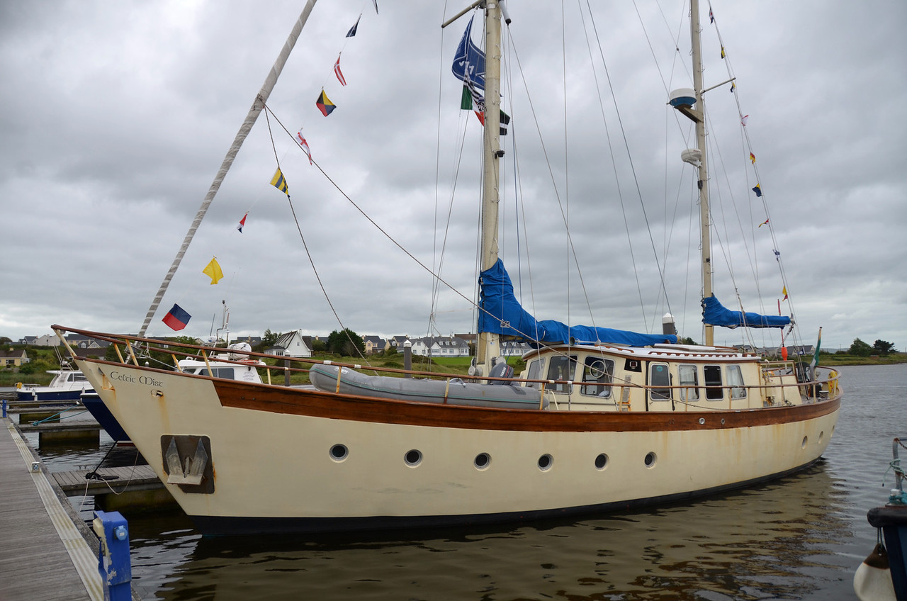 'Celtic Mist' in her berth at Kilrush Marina.