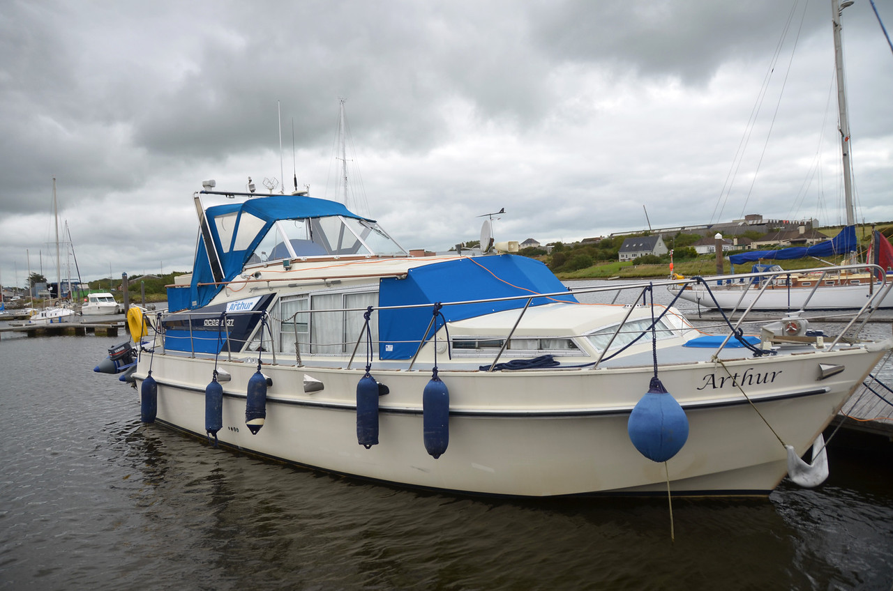 """Arthur"" in her berth at Kilrush Marina."