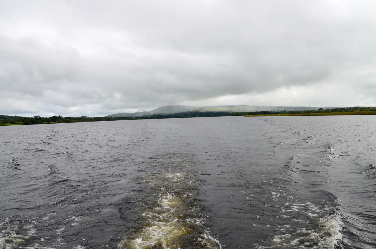 Leaving Killaloe in our wake....literally!