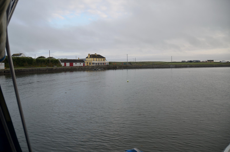 "We arrive at Kilbaha just after 21.00hrs on the back of a lovely passage from Kilrush. Photo shows Keatings Bar & Restaurant overlooking Kilbaha Harbour. Shot taken from ""Arthur"" which spent the night rafted to a local fishing boat!"