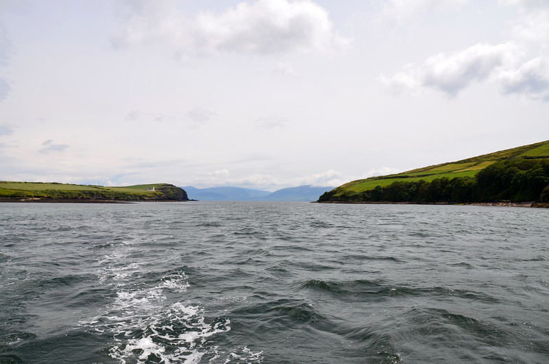 Looking back at the entrance to Dingle Harbour from Dingle Bay.