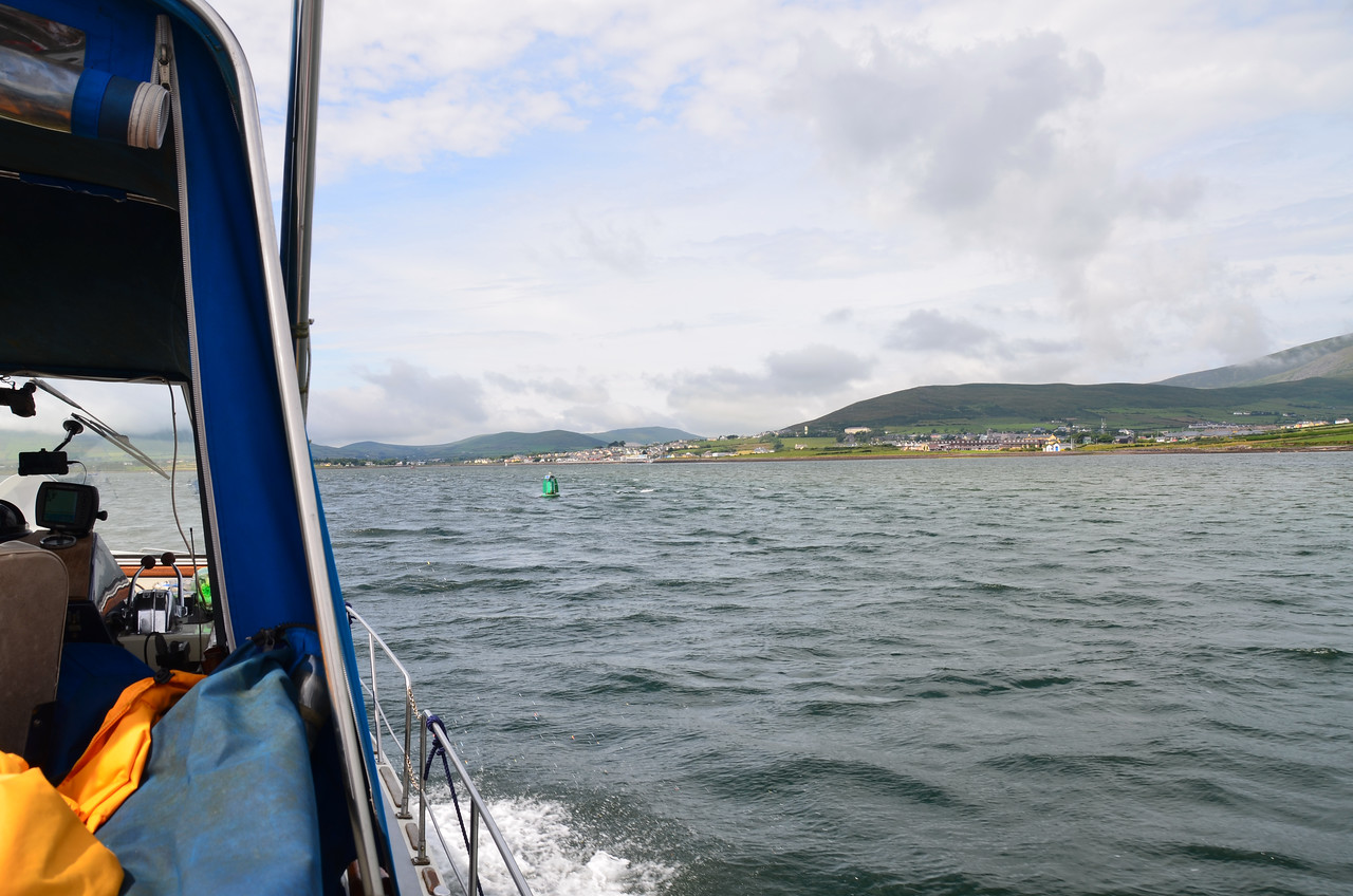 Circa 14.50, approx 7 and half hours after departing Kilbaha we approach Dingle Harbour.