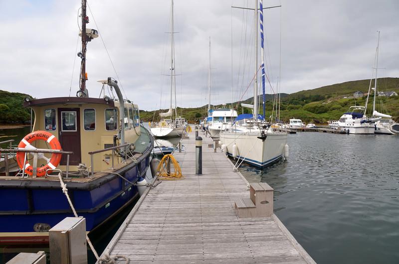 Main pontoon at Lawrence Cove Marina.