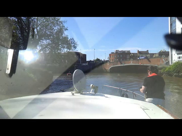Entering Limerick - under the five bridges....under the watchful eye of Pat Lysaght! Click the image above to view the 3 minute video clip.