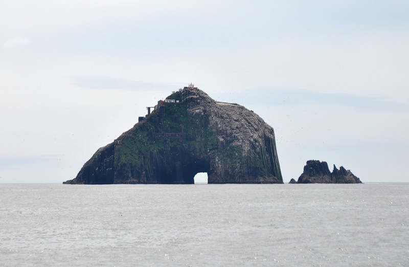 Another close-up of The Bull. Note the helipad on left-hand side of the rock.