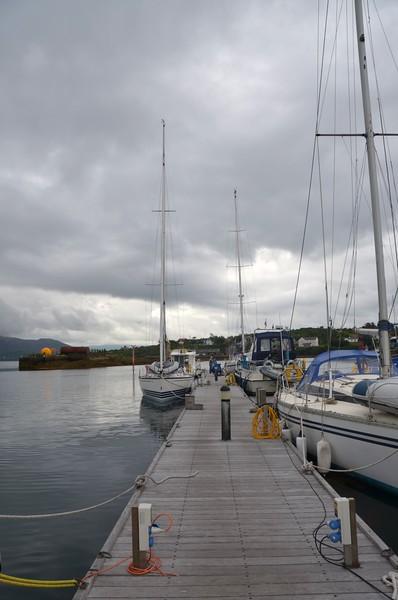 The main jetty at Lawrence Cove Marina