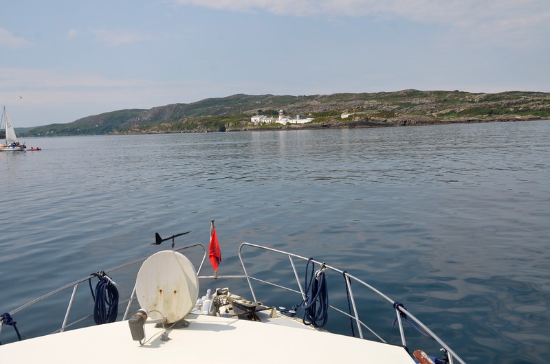 Approaching the entrance to Crookhaven Harbour.