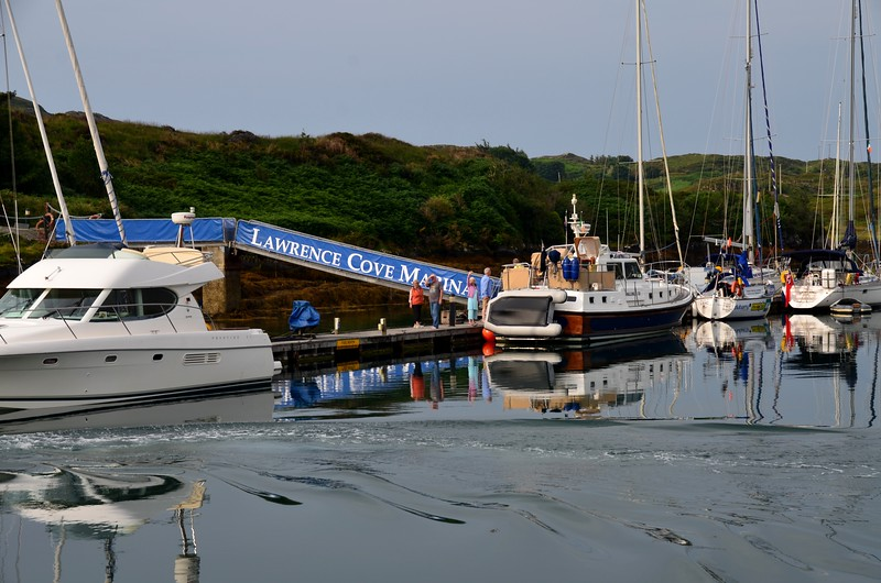 08:50...A little later than planned, Arthur departs Lawrence Cove Marina bound for the Fastnet Rock.