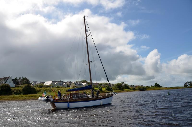 Andella II departing Kilrush Creek marina