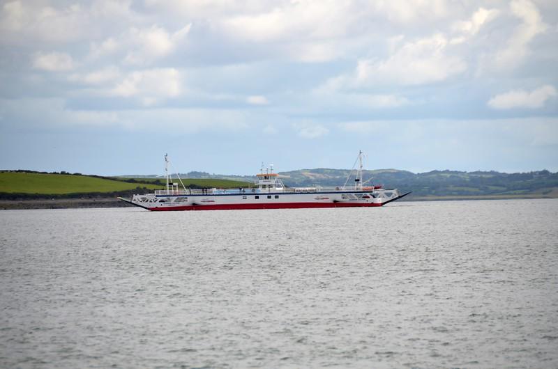 Killimer-Tarbert ferry in mid-stream!