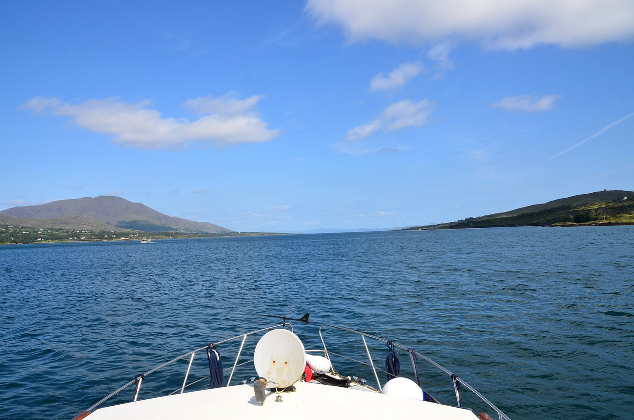 circa 16:05... Arthur is on the calmer waters of Berehaven and heading for Lawrence Cove Marina where we will assess the damage and the crew will take a well-earned rest!