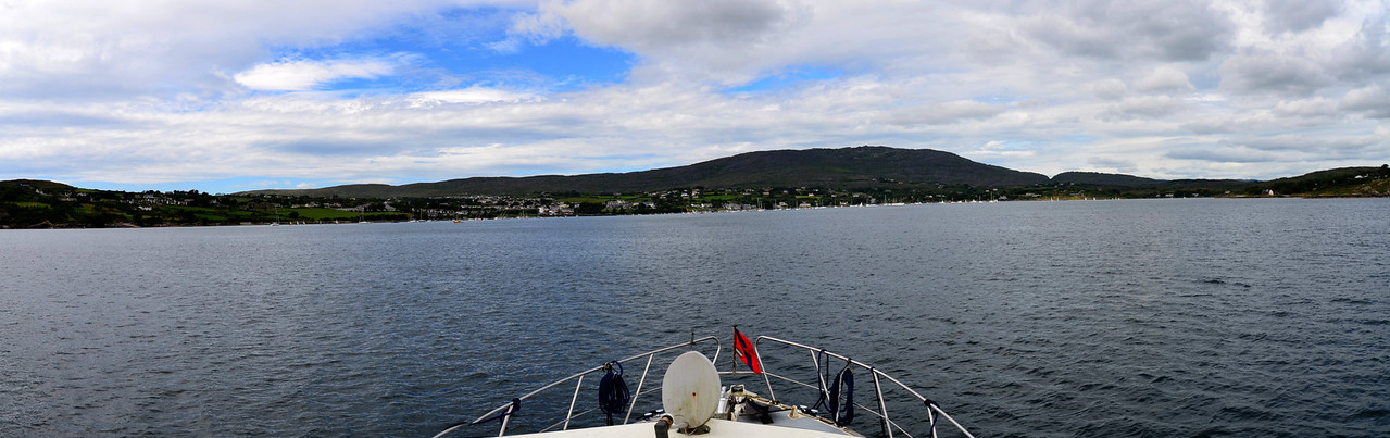 I created this panorama of Schull Harbour as we returned from our aborted trip to Clear Island.