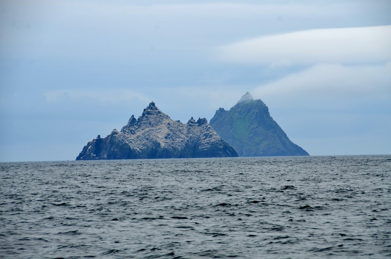Skellig Islands...approximately four and a half hours since we departed Lawrence Cove.  Another three hours should see us berthed in Dingle Marina.