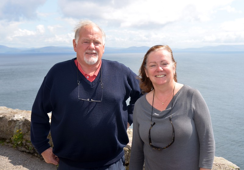 Noel and Mary against a backdrop of Dingle Bay.
