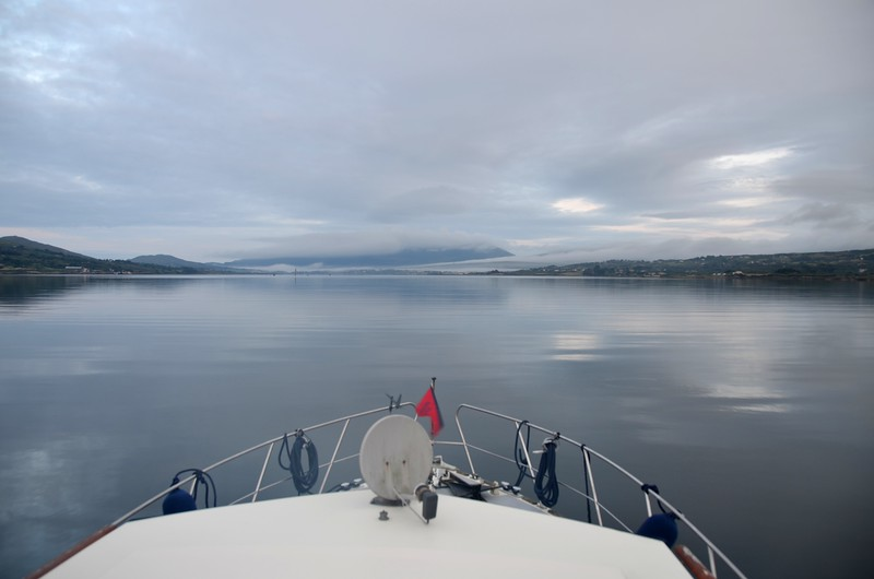 circa 06:25...'Arthur' has departed Lawrence Cove Marina and is on Berehaven heading for the western entrance onto Bantry Bay. Sea state looks very good...so far!  Total passage time should be circa seven and a half hours.