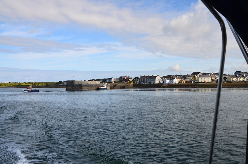 Circa 10:50...'Arthur' has departed Kilrush Creek Marina and this photo shows us passing Cappagh Pier. Cappagh is adjacent to Kilrush.