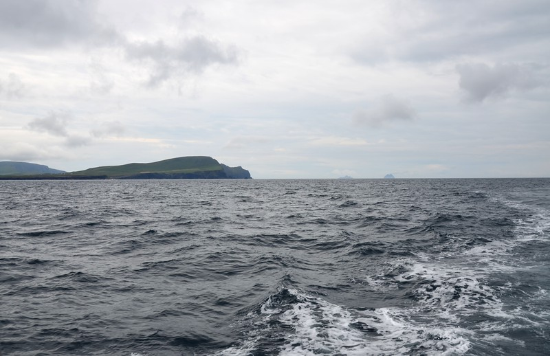 circa 11:42... and we have rounded Valentia Head.  Skellig Islands visible in the distance.