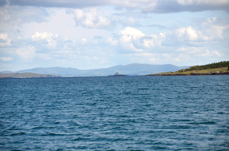 circa 14:45...Mid-stream on Berehaven...Roancarrigmore Lighthouse in the distance.