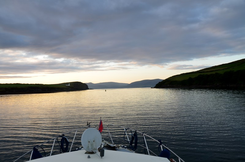 Leaving Dingle Harbour. Dingle Bay ahead.
