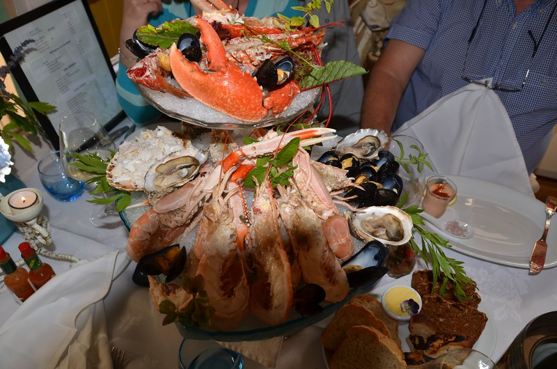 Our starter at the Half-Door Restaurant, Dingle!  Included were the following:<br /> <br /> 3 x half-lobsters<br /> Crayfish<br /> Mussels<br /> Oysters<br /> Crab Claws<br /> Prawns<br /> Crab meat<br /> <br /> This was the most stunning starter that Mary and I had ever faced.  It took the three of us nearly an hour to do it justice!  And when we had finished it Noel said...'You can choose your own main courses...'