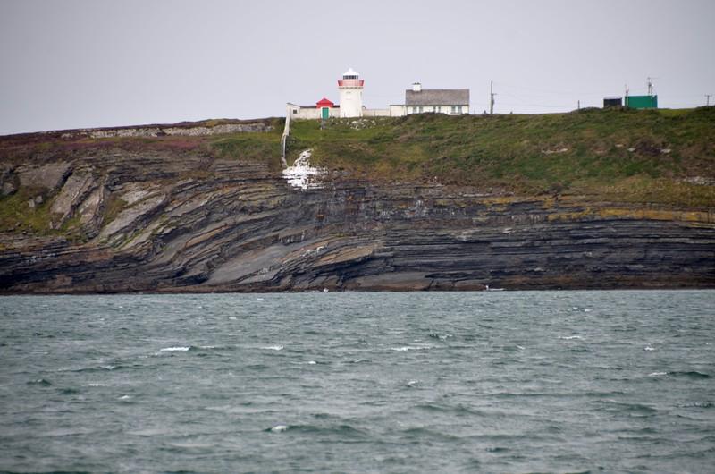 circa 14:00....eight hours after departing Dingle. Kilcredaun Lighthouse.