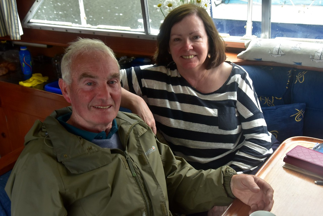Berthed at Custom House Quay, Pat joins us for another cuppa.