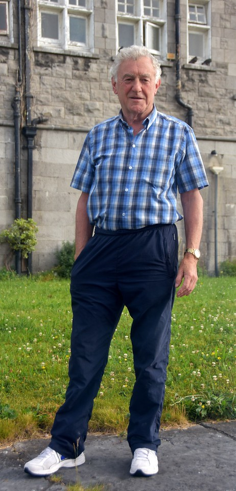 Dick Sparling, lock-keeper at Sarsfield Lock. Always obliging to boaters transiting Limerick.