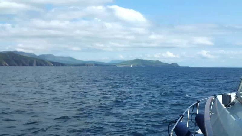 VIDEO<br /> <br /> circa 14:01... click the above image to view a 25 second video clip of Arthur on Dingle Bay and heading for Dingle Harbour. <br /> <br /> When the video is 'Loaded' you will need to click on the 'Play' button to start the video playback.<br /> <br /> NOTE that viewing the video will cause another page to open in which the video will play. To return to the PhotoJournal click on the X at top right-hand corner of the video page OR hit the 'Back' button on your browser.