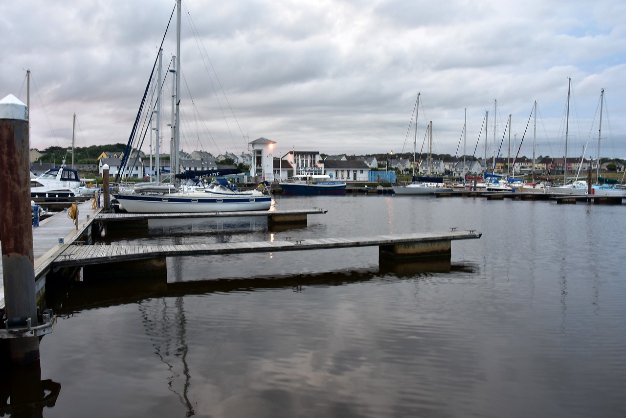 Evening shot of Kilrush Marina.