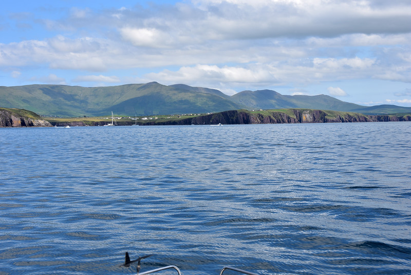 circa 14:20...approaching the entrance to Dingle Harbour. A large yacht is exiting the harbour. Next photo shows the yacht!