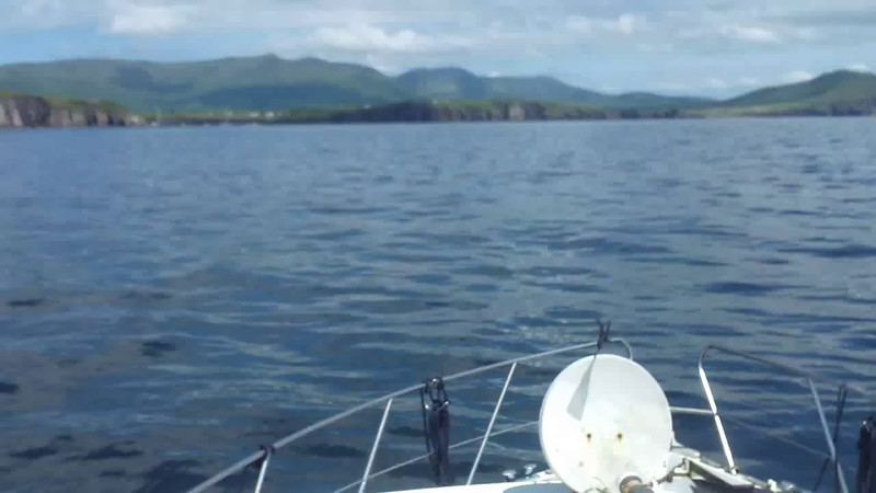 VIDEO<br /> <br /> circa 14:17... click the above image to view a 34 second video clip of Arthur on the approach to the entrance to Dingle Harbour. <br /> <br /> When the video is 'Loaded' you will need to click on the 'Play' button to start the video playback.<br /> <br /> NOTE that viewing the video will cause another page to open in which the video will play. To return to the PhotoJournal click on the X at top right-hand corner of the video page OR hit the 'Back' button on your browser.