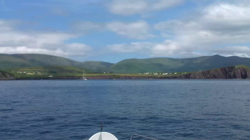 VIDEO<br /> <br /> circa 14:28... click the above image to view a short 8 second video clip of Arthur making the approach to Dingle Harbour. <br /> <br /> When the video is 'Loaded' you will need to click on the 'Play' button to start the video playback.<br /> <br /> NOTE that viewing the video will cause another page to open in which the video will play. To return to the PhotoJournal click on the X at top right-hand corner of the video page OR hit the 'Back' button on your browser.