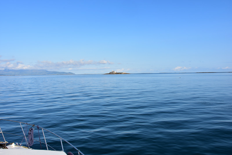 Samphire Island and Lighthouse ahead as we make our way through Tralee Bay.