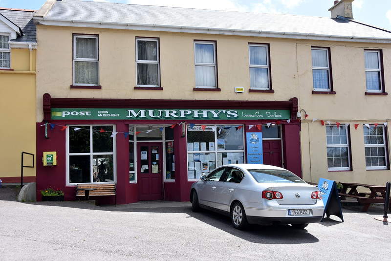 Murphy's, Rerrin village about a ten minute walk from the marina. Mary Murphy offers a limited, but adequate, range of newspapers and groceries, and she also operates the Post Office. And the picnic tables outside her shop (right of picture) offer a wonderful resting spot and a reasonably good Vodafone signal which is NOT available at the marina!
