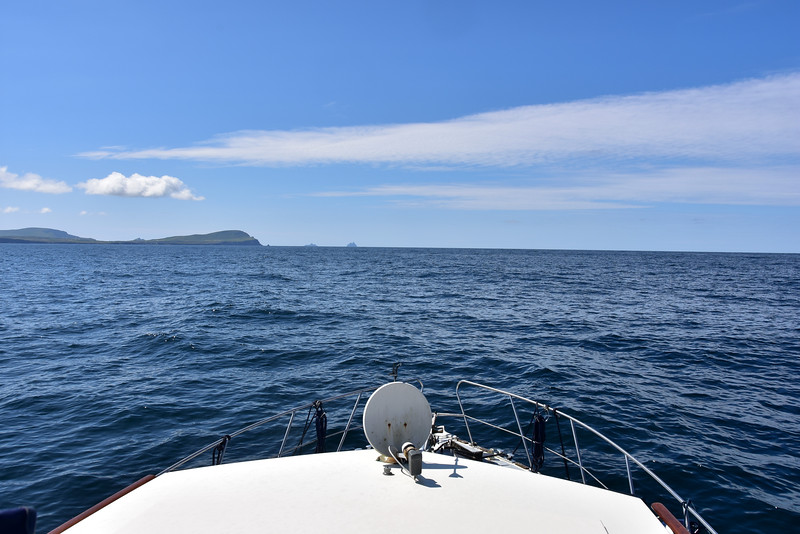 12:22... Valentia Island ahead with the two Skellig Michael islands to right of the headland.
