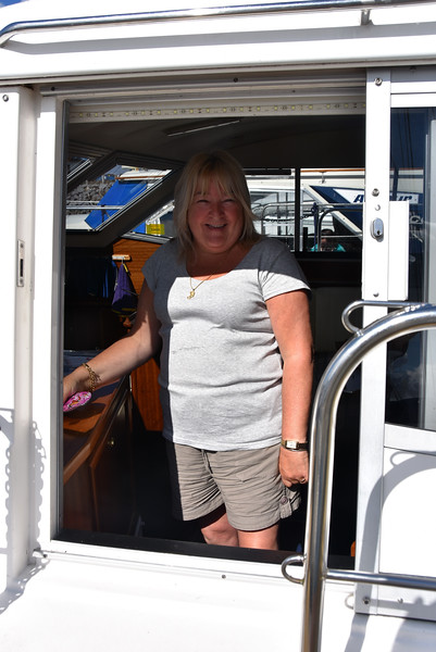 Geraldine, up and ready for the passage.