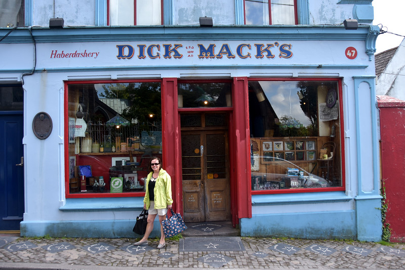 Dick Mack's, undoubtedly the most famous pub in Dingle. And where is Dick Mack's?  Opposite the Church!  And where is the Church? Opposite Dick Mack's!  And some of the 'Greats' to have visited Dick Mack's are commemorated in the 'Stars' located on the footpath outside the pub.