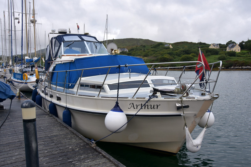 "And I also took a photo of ""Arthur"" on the main jetty at Lawrence Cove Marina."