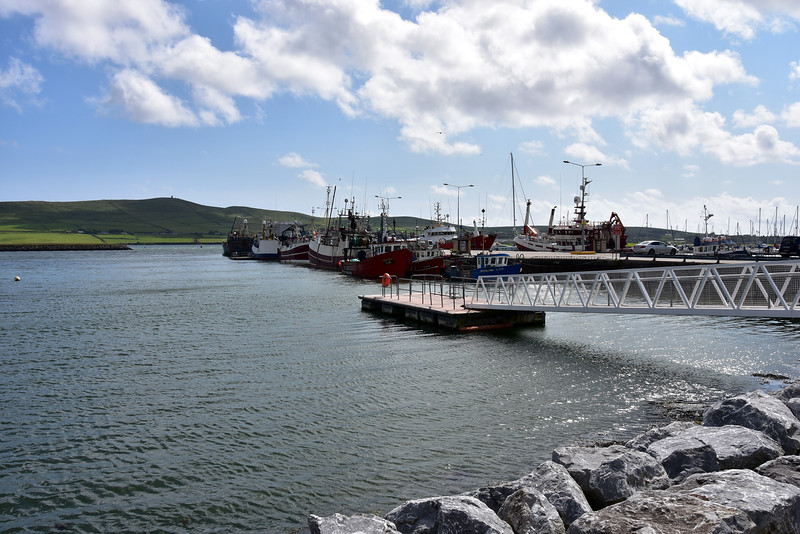 On our way back to the marina we pass the commercial harbour, home to the local fishing fleet.