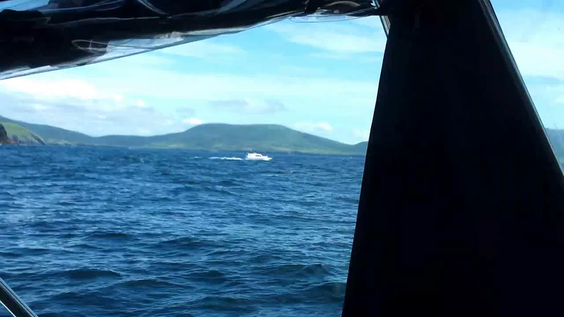VIDEO<br /> <br /> circa 13:47....Passing Ballinskelligs Bay. Click the above image to view an 18 second video clip.<br /> <br /> When the video is 'Loaded' you will need to click on the 'Play' button to start the video playback.<br /> <br /> NOTE that viewing the video will cause another page to open in which the video will play. To return to the PhotoJournal click on the X at top right-hand corner of the video page  OR hit the 'Back' button on your browser.